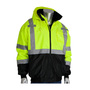 Protective Industrial Products Medium Hi-Viz Yellow/Hi-Viz Orange Polyester/Fleece Two-Tone Bomber Coat