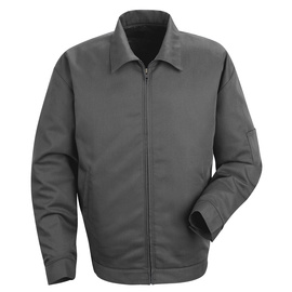 Red Kap® 3X/Regular Charcoal Jacket With Zipper Closure