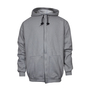 National Safety Apparel® Small Gray Modacrylic Blend Fleece 28 cal/cm² Flame Resistant Sweatshirt With Zipper Closure
