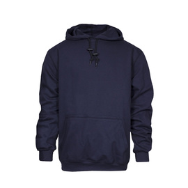 National Safety Apparel® 2X Tall Navy Modacrylic Blend Fleece 28 cal/cm² Flame Resistant Sweatshirt With Pullover Closure