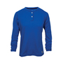 National Safety Apparel® Medium Royal Blue Classic Cotton™ 12 cal/cm² Flame Resistant Long Sleeve Henley