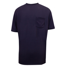 National Safety Apparel® 3X Navy Classic Cotton™ 12 cal/cm² Flame Resistant T-Shirt