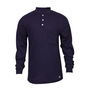 National Safety Apparel® Large Navy Classic Cotton™ 12 cal/cm² Flame Resistant Long Sleeve Henley