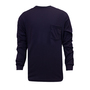 National Safety Apparel® Large Navy Classic Cotton™ 12 cal/cm² Flame Resistant Long Sleeve T-Shirt