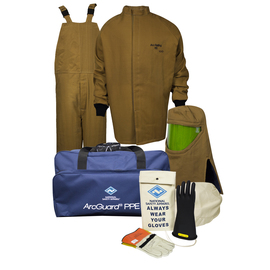 National Safety Apparel® 2X Brown DuPont™ Nomex® Kevlar® 100 cal/cm² Flame Resistant Arc Flash Kit