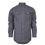 National Safety Apparel® Large Gray TECGEN® OPF Blend Knit 8 cal/cm² Flame Resistant Work Shirt With Button Closure