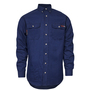 National Safety Apparel® X-Large Navy TECGEN® OPF Blend Knit 8 cal/cm² Flame Resistant Work Shirt With Button Closure