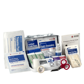 First Aid Only® White Metal Portable Or Wall Mounted 10 Person First Aid Kit