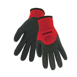 Radnor® 2X Red And Black 15 Gauge Nylon 7 Gauge Acrylic Terry Lined Cold Weather Gloves With PVC 3/4 Coating