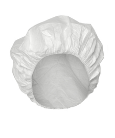 DuPont™ Tyvek® IsoClean® One Size Fits Most White Serged Seam Bouffant Cap