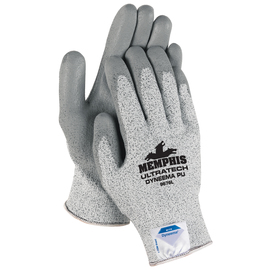 Memphis Glove X-Large UltraTech® 15 Guage DSM Dyneema® Diamond Technology Cut Resistant Gloves With Polyurethane Coated Palm And Fingertips