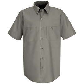 Red Kap® Large Gray 4.25 Ounce Polyester/Cotton Shirt With Button Closure