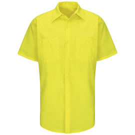 Red Kap® X-Large Yellow And Green 4.25 Ounce Polyester/Cotton Shirt