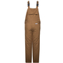 National Safety Apparel® Small Brown UltraSoft® Duck 60 cal/cm² Flame Resistant Bib Overall 3M™ Thinsulate™ Lining With Zipper Closure