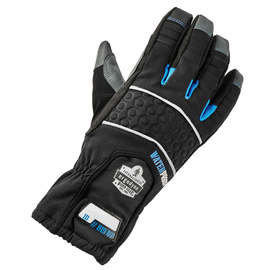 Ergodyne Medium Black ProFlex® 819WP Extreme Thermal Waterproof Synthetic Leather Dual-Zone 3M™ Thinsulate™ Lined Cold Weather Gloves