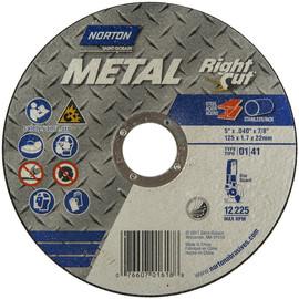"NORTON 07660701618 CutOff Wheel,Rightcut,5/""x.040/""x7//8/"""