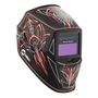 Miller® Classic Series Rise™ Black/Red Welding Helmet Variable Shades 8 - 12 Auto Darkening Lens