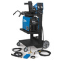 Miller® XMT® 350 MIGRunner™ CC/CV 208 - 575 Volt 1 or 3 Phase 60 Hz Multi Process Welder With XMT® 350 CC/CV Power Source, S-74D Wire Feeder, Bernard® Q™-Gun, Regulator/Flow Gauge With Hose, MIGRunner™ Cart And Cylinder Rack