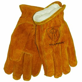Tillman® X-Large Brown Cowhide Fleece Lined Cold Weather Gloves
