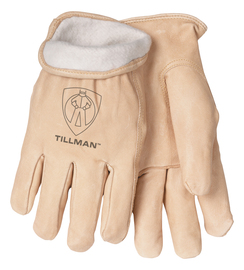Tillman® Small Pearl Pigskin Fleece Lined Cold Weather Gloves