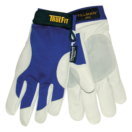 Tillman™ Large Blue And Gray TrueFit™ Nylon And Spandex And Pigskin Thinsulate™ Lined Cold Weather Gloves