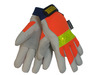 Tillman® Medium Gray, Orange And Yellow Reflective TrueFit™ Pigskin Thinsulate™ Lined Cold Weather Gloves