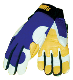 Tillman™ Medium Blue, Gold And Pearl TrueFit™ Ultra Goatskin Thinsulate™ Lined Cold Weather Gloves