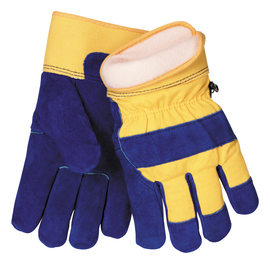 Tillman™ X-Large Blue And Yellow Cowhide ColdBlock™/Cotton/Polyester Lined Cold Weather Gloves