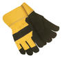 Tillman™ Large Black And Yellow Cowhide ColdBlock™/Cotton/Polyester Lined Cold Weather Gloves