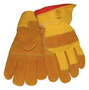 Tillman® Large Brown And Yellow Cowhide Cotton/Foam Lined Cold Weather Gloves