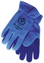 Tillman® Large Blue And Blue Polar Fleece And Leather ColdBlock™/Cotton/Polyester Lined Cold Weather Gloves