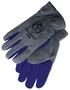 Tillman® Small Gray And Blue Polar Fleece And Leather ColdBlock™/Cotton/Polyester Lined Cold Weather Gloves