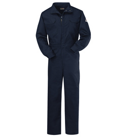 Bulwark® 2X Regular Navy Cotton Nylon Flame Resistant Coverall