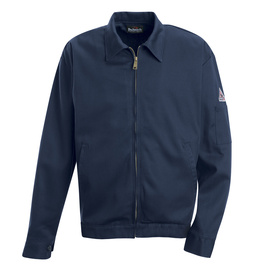Bulwark® Large Tall Navy Cotton Flame Resistant Jacket