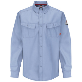 Bulwark® X-Large Regular Light Blue Westex G2™ fabrics by Milliken® Ripstop Twill/Cotton/Polyester Flame Resistant Work Shirt With Button Front Closure