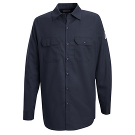 Bulwark® 5X Tall Navy Cotton Flame Resistant Work Shirt