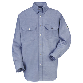 Bulwark® 3X Tall Chambray Cotton Nylon Flame Resistant Work Shirt