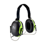 3M™ Peltor™ X4B Black And Green Behind-The-Head Earmuffs