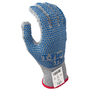 SHOWA® Size 8 8113C 13 Gauge Thermax® And High Performance Polyethylene And Glass Fiber And Seamless Knit Cut Resistant Gloves With PVC Dot Coating