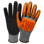 Wells Lamont Medium FlexTech™ 13 Gauge Fiber And Stainless Steel Cut Resistant Gloves With Sandy Nitrile Coated Palm And Fingertips