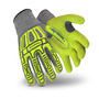 HexArmor® Medium Rig Lizard Thin Lizzie™ 13 Gauge High Performance Polyethylene, Fiberglass And TPR Cut Resistant Gloves With Sandy Nitrile Coated Palm