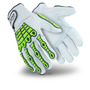 HexArmor® Medium Chrome Series® SuperFabric®, Goatskin And TPR Cut Resistant Gloves