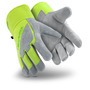 HexArmor® Medium SteelLeather® SuperFabric® And Split Cow Leather Heavy Duty Cut Resistant Gloves