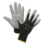 Honeywell Large Pure Fit™ 395 13 Gauge Gray And Black Nitrile Palm And Fingertips Coated Work Gloves With Black Nylon Liner And Knit Wrist
