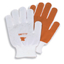 Honeywell Large Smitty® 81/1162 Light Weight Brown And White Nitrile Palm Coated Work Gloves With Natural Cotton And Polyester Liner And Knit Wrist