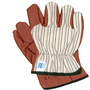 Honeywell Large Worknit® HD 85/3729 Heavy Weight Brown And White Nitrile Palm And Fingertips Coated Work Gloves With Natural Cotton Jersey Liner And Slip-On Cuff
