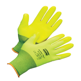 Honeywell Medium NorthFlex Neon™ NF11HVY 15 Gauge Hi-Viz Yellow PVC Three-Quarter Coated Work Gloves With Hi-Viz Yellow Nylon Liner And Knit Wrist