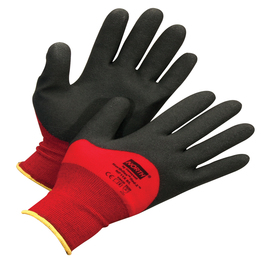 Honeywell Small NorthFlex Red X™ NF11X 15 Gauge Black Foam PVC Three-Quarter Coated Work Gloves With Red Nylon Liner And Knit Wrist