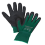 Honeywell X-Large NorthFlex Oil Grip™ NF35 13 Gauge Black MIcroFinish® Nitrile Palm And Fingertips Coated Work Gloves With Green Nylon Liner And Knit Wrist