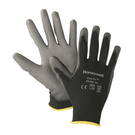 Honeywell Small Pure Fit™ PF550 13 Gauge Gray Polyurethane Palm And Fingertips Coated Work Gloves With Black Nylon Liner And Knit Wrist